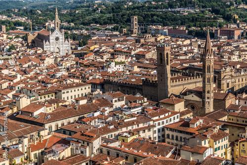 Papiers peints Paris Vista aerea de la ciudad Florencia , Italia