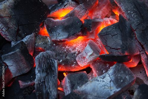 Photo  Charcoal Stove burning