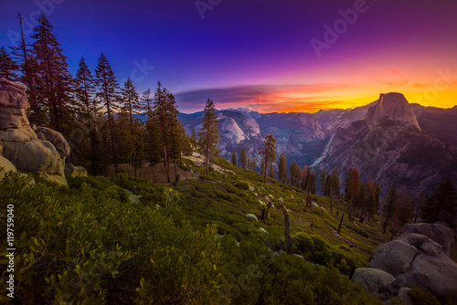 Photo  Yosemite National Park Sunrise Glacier Point