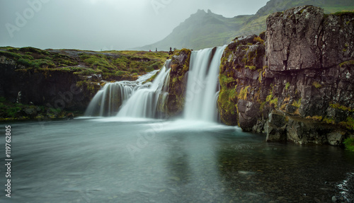 Spoed Foto op Canvas Natuur Kirkjufell mountain, West of Iceland