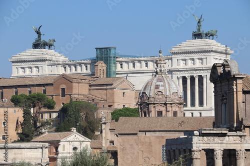 In de dag Berlijn Vue du forum romain et du monument à Victor-Emmanuel II à Rome