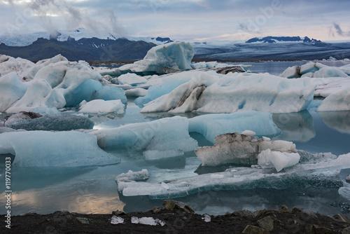 Foto op Aluminium Arctica Glacier Lagoon