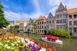 canvas print picture Old town of Ghent, Belgium
