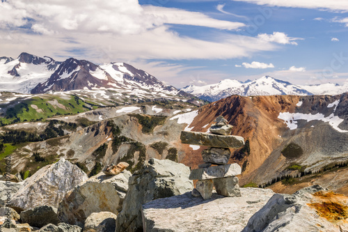 Whistler with Coast Mountains, British Columbia, Canada