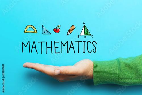 Fotografie, Obraz  Mathmatics concept with hand