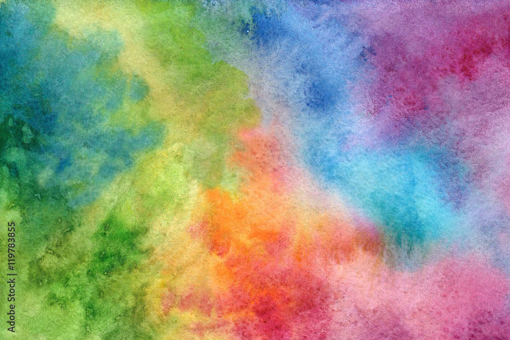 Fototapety, obrazy: Multicolored background in watercolor