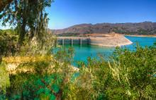 The Bradbury Dam At Lake Cachuma In Santa Barbara County.
