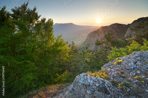 Poster Afrique du Sud Mountain nature landscape.