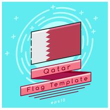 Qatar Flag  : Flag Icon With F...
