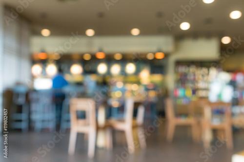 Zdjęcie XXL Rozmycie kawiarni lub kawiarni