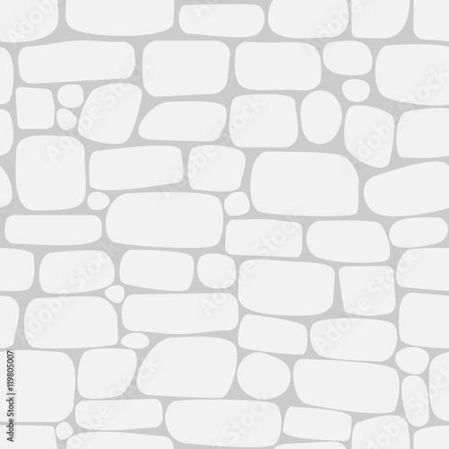 Bezszwowy wzór z białymi kamieniami. Ściana cegieł