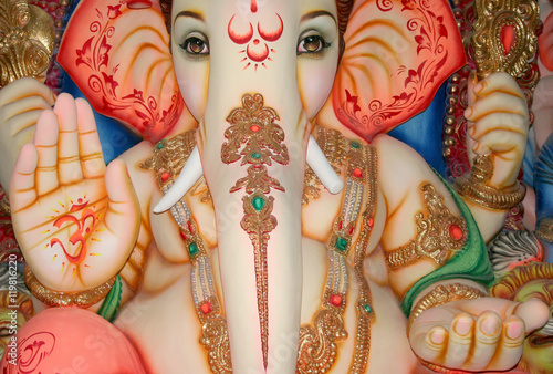 Photo  Closeup of Ganesha,Hindu God