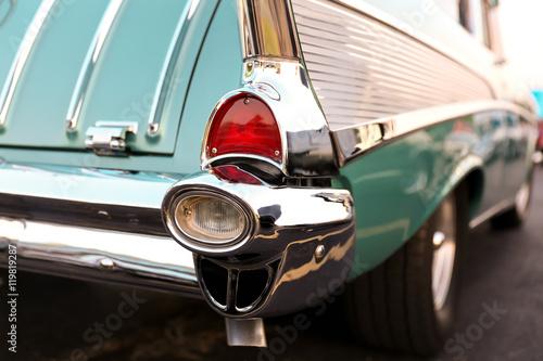 Keuken foto achterwand Vintage cars classic retro vintage green car