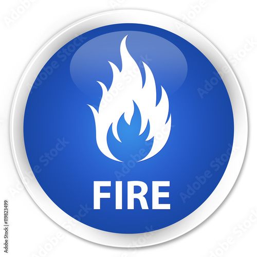 Fototapety, obrazy: Fire blue glossy round button