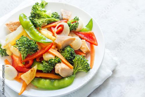Photo stir fry with chicken