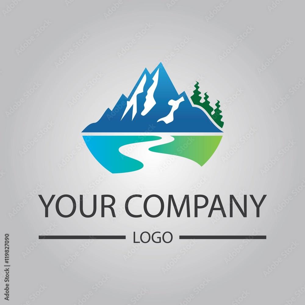 Fototapety, obrazy: elegant valley river logo template