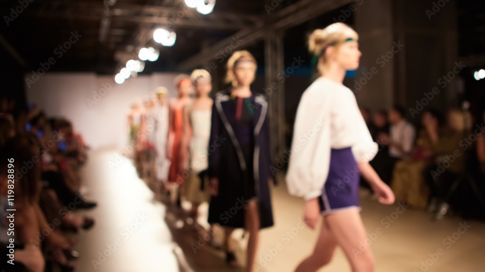 Fototapety, obrazy: Fashion runway out of focus. The blur background