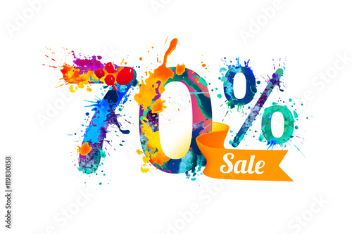 Photographie  seventy (70) percents sale