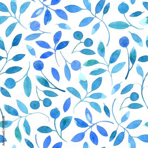kwiatowy-wzor-z-oddzialow-i-jagody-akwarele-recznie-rysowane-ilustracja-biale-tlo