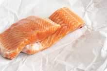 Raw Salmon In Paper