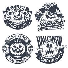 Halloween Emblem Set. Original...