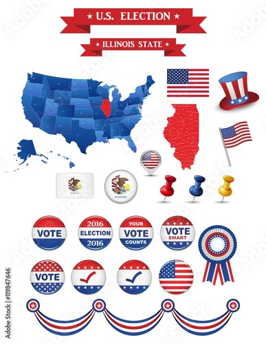 US Presidential Election 2016. Illinois State. Including High ...