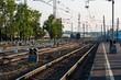 Geleise Transsibirische Eisenbahn