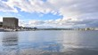 Wide angle afternoon time lapse of boats and seaplanes at Lake Union Park in Seattle, Washington