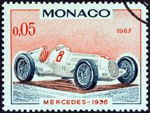 Mercedes Grand Prix Racing Car Of 1936, Winner Of Monaco Grand Prix (Monaco 1967)