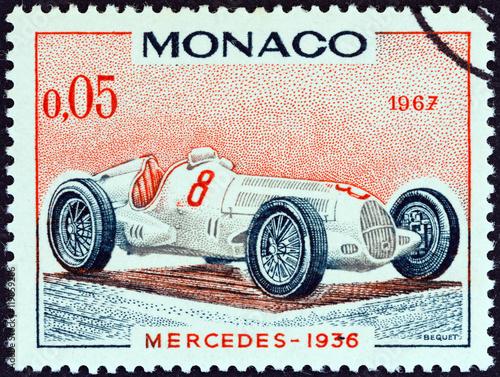 Photo  Mercedes Grand Prix racing car of 1936, winner of Monaco Grand Prix (Monaco 1967