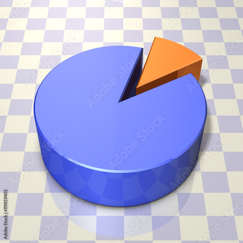Fotografía  円グラフの3DCGレンダリング画像