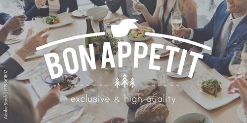 Deurstickers Ontspanning Bon Appetit Food Delicious Meal Concept