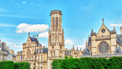 Saint-Germain l'Auxerrois Church  is situated near Louvre museum Canvas Print