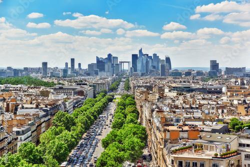 Papiers peints Paris PARIS, FRANCE - JULY 06, 2016 : Beautiful panoramic view of Pari