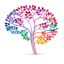 Creative Concept Of The Brain As A Tree, Eps10 Vector