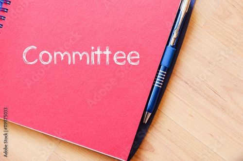 Fotografie, Obraz  Committee text concept on notebook