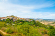 small town on a hill in Sardinia
