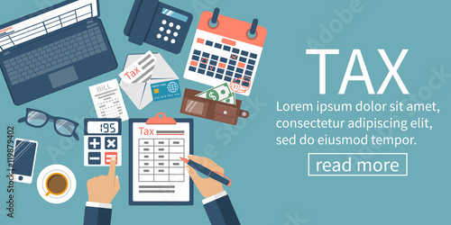 Fotografía  Tax payment vector