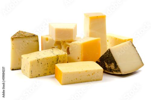 Fotografia  Verschiedene Käsesorten