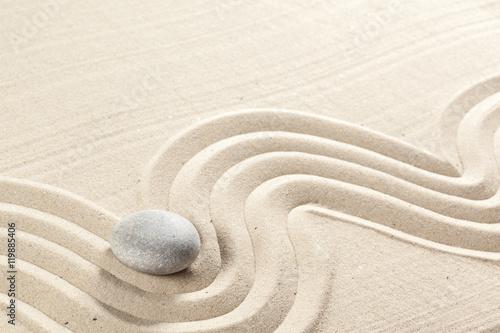 Foto op Plexiglas Stenen in het Zand japanese garden zen stone