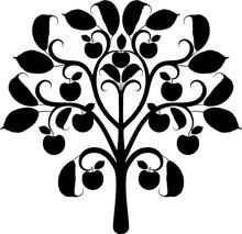 Apple Tree Silhouette