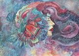 dipinto donna acquerello - 119891605