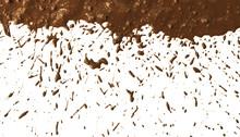 Mud Splat Pattern On White Bac...
