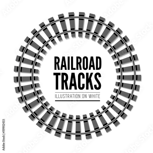 Fotografía  Railroad tracks vector llustration