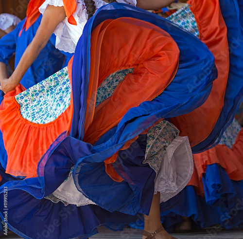 Photo  Background with a Costa Rican dancers