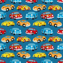 Tapeta Cute colorful cars.