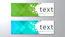 Banners Template With Abstract...