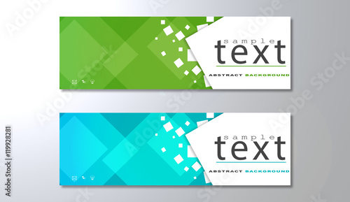 Obraz Banners template with abstract background - fototapety do salonu