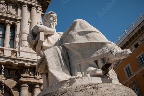 Fotografie, Obraz  Statua di Gaio situata davanti alla Corte di Cassazione, Roma
