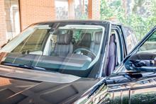Four-wheel Drive Car With The Door Open